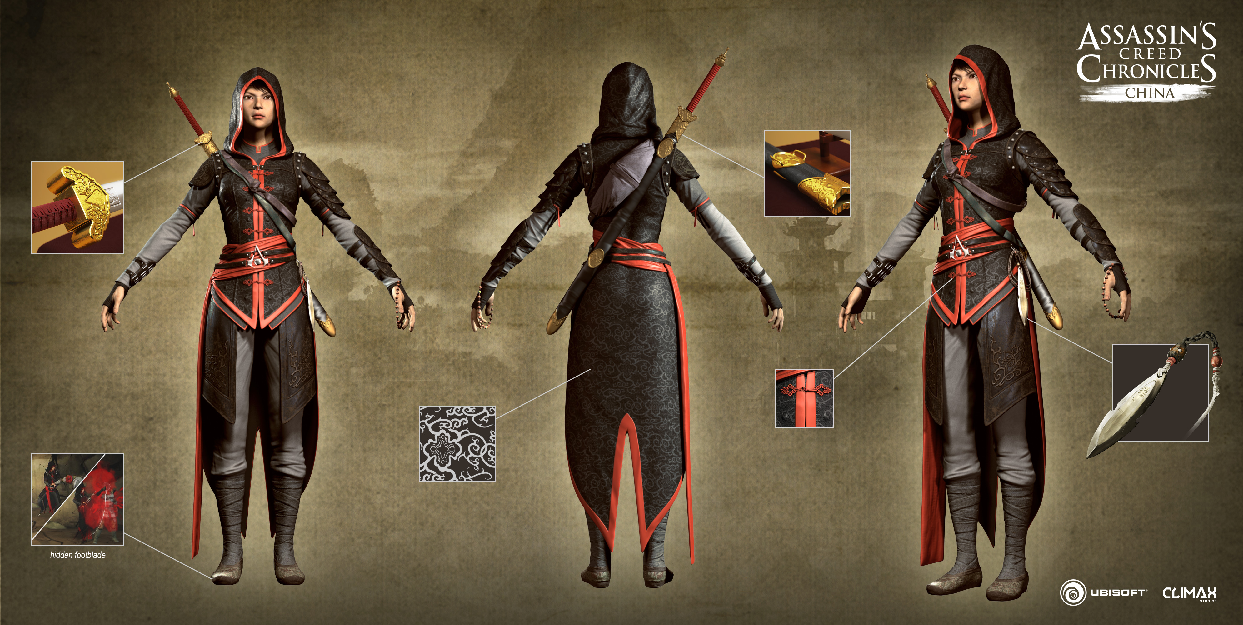 Assassin S Creed Chronicles Costume Turnarounds Feed4gamers
