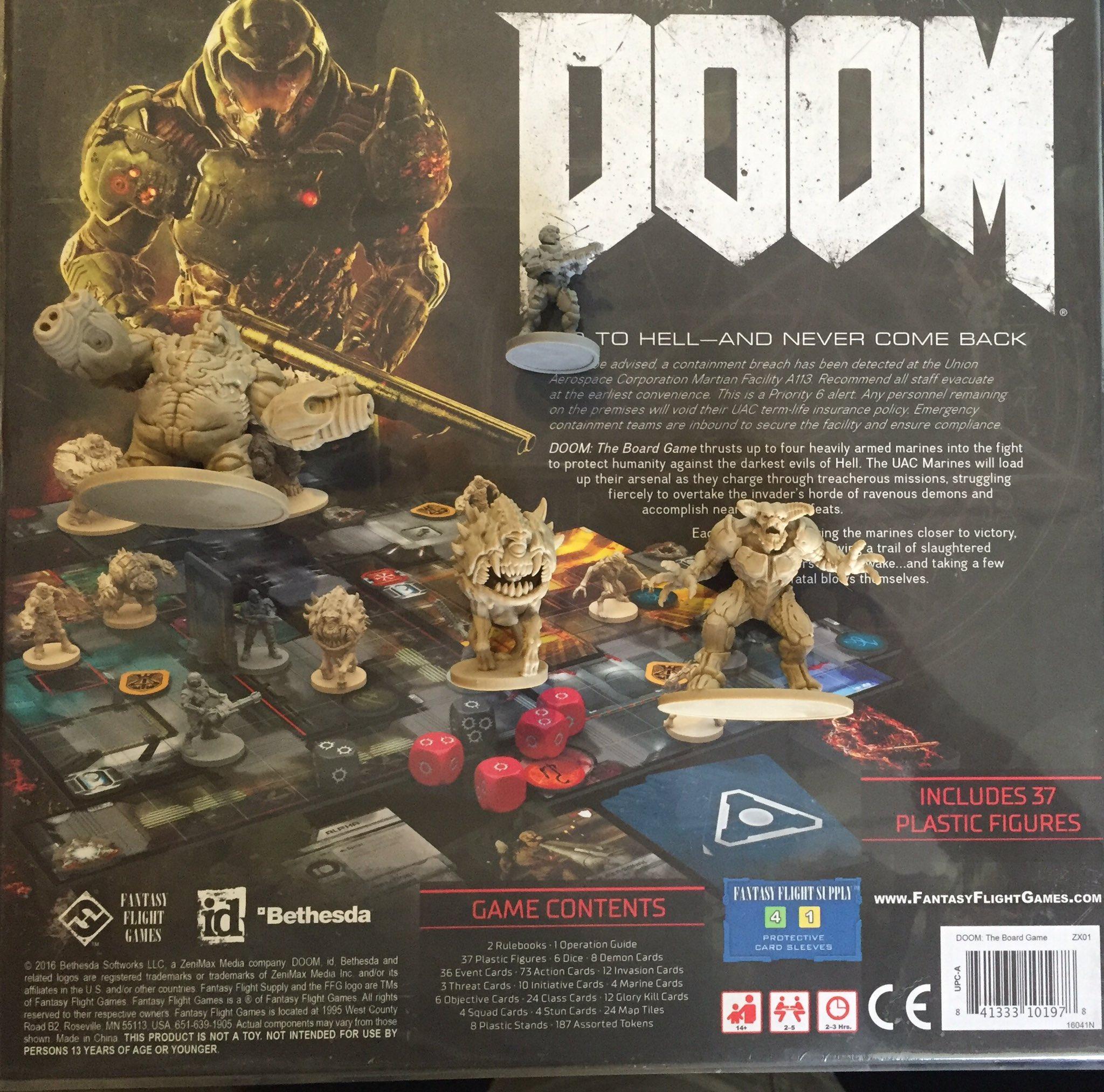 first sneak peek on doom boardgame feed4gamers